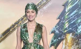 L'actrice Amber Heard à l'avant-première d'Aquaman