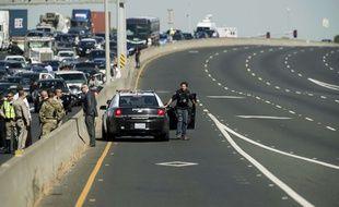 Un homme suspecté d'homicide a été abattu près de San Francisco après une course-poursuite sur l'autoroute, le 27 septembre 2017.