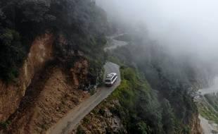 «Les routes de l'impossible», lors du tournage au Bhoutan.