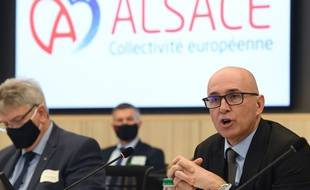 Le premier président de la toute nouvelle  Collectivité Européenne d'Alsace, Frederic Bierry, le 2 janvier à Colmar.