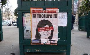 Affiches anti-Hidalgo dans les rues de Paris, le 26 février 2014.