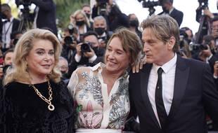 Catherine Deneuve, Emmanuelle Bercot  et Benoît Magimel le 10 juillet à Cannes