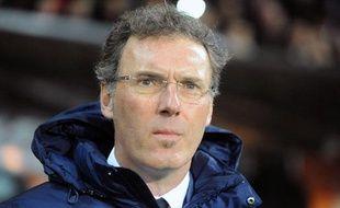 Laurent Blanc, l'entraîneur du PSG, le 8 janvier 2014, à Brest.