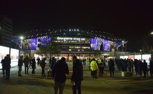 Le Groupama Stadium de Décines, ici en février 2019 avant un choc de Ligue 1 entre l'OL et le PSG.