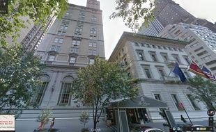 Capture d'écran Google Street View sur l'hôtel Pierre à New York.