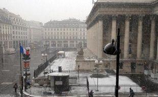 Une vue sur le Palais Brongniart, ancien siège de la Bourse de Paris, le 10 février 2010