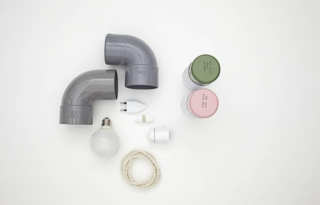 Le matériel nécessaire pour réaliser la lampe