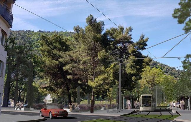 Le futur tram dans le quartier de l'Ariane