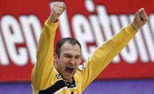 Le gardien de l'équipe de France de handball, Thierry Omeyer, lors d'un match contre la Croatie, le 30 janvier 2010 à Vienne, en Autriche.
