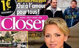 Une de Closer du 12 décembre 2014 révélant l'homosexualité de Florian Philippot