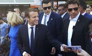 Emmanuel Macron à Athènes le 8 septembre 2017.