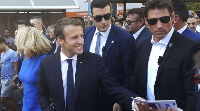 Emmanuel Macron à Athènes le 8 septembre 2017. – George Tongas/AP/SIPA