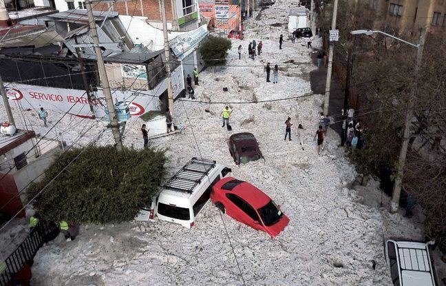 VIDEO. Mexique: La ville de Guadalajara recouverte de glace après un violent orage
