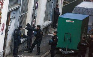 Perquisition d'un squat au Pré-Saint-Gervais le 27 novembre dernier.