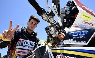 L'Argentin Jorge Lacunza, 18 ans, est le plus jeune concurrent du Dakar 2015.