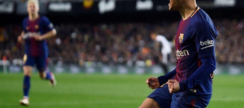 Premier but barcelonais pour le petit magicien Philippe Coutinho.