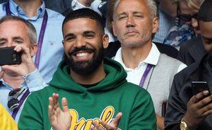 Le rappeur Drake au tournoi de Wimbledon