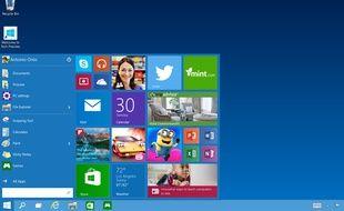Le menu démarrer de Windows 10.