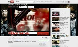 Un clip musical sur YouTube.