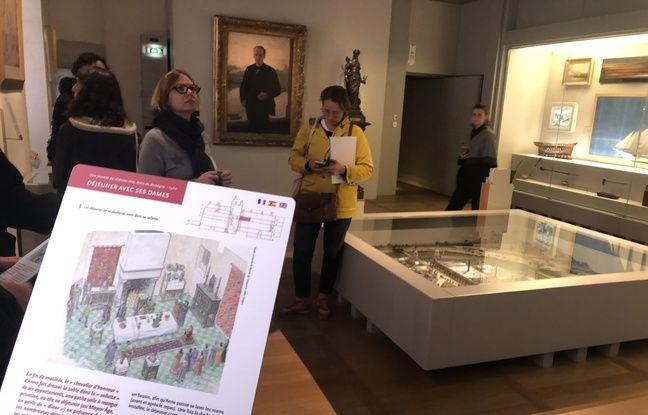 Dans les salles, une fiche explique ce qu'il s'y passait au XVe siècle