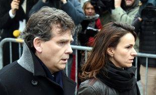 Aurélie Filippetti  et Arnaud Montebourg, le 15 janvier à Paris.