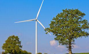 Une éolienne dans la Sarthe, en mai 2021. (illustration)