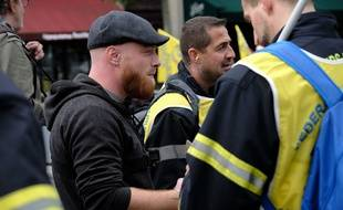Le gilet jaune Maxime Nicolle lors de la manifestation des pompiers, à Paris, le 15 octobre 2019.