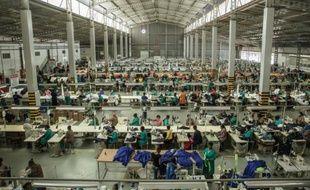Dans une usine textile de la banlieue de Matsapha, au Swaziland, le 1er septembre 2015