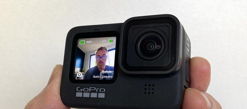 Le nouvel écran de 1,4 pouce en façade de la GoPro Hero 9 Black.