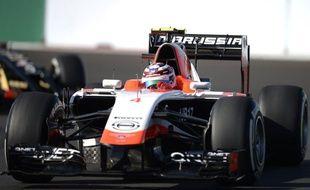 Le pilote de Marussia Max Chilton lors du GP de Russie, le 12 octobre 2014.