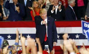 Donald Trump en meeting à Pensacola (Floride), le 3 novembre 2018.