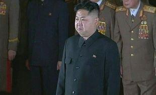 Le fils et successeur de Kim Jong-Il, Kim Jong-Un, le 20 décembre 2011 à Pyongyang (Corée du Nord).