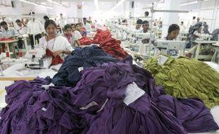 Une usine de textile en Inde.