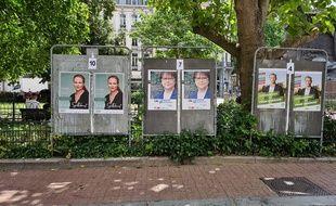 Les trois candidats à l'élection municipale à Lille.