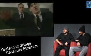 Capture d'écran de l'interview d'Orelsan & Gringe sont les Casseurs Flowters.