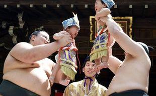 Bébés sumo en pleurs, au Japon.