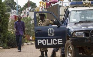 La police ougandaise à Kampala le 14 septembre 2014
