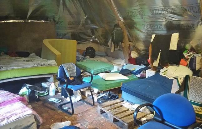 A l'intérieur du squat de Doulon, la veille de l'expulsion