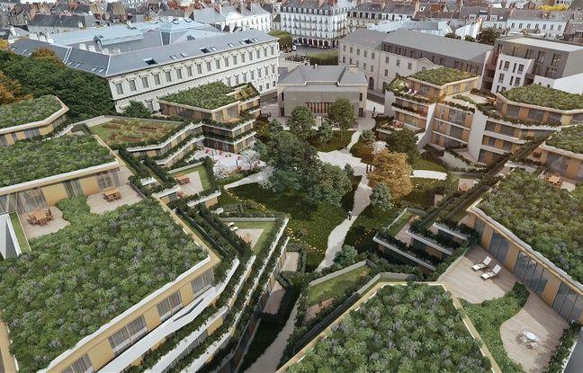 Vue aérienne du projet de transformation de l'ex maison d'arrêt