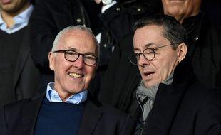 Frank McCourt et Jacques-Henri Eyraud, le propriétaire et le président de l'OM.