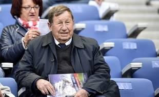 Guy Roux, ancien entraîneur d'Auxerre, le 30 mai 2015, au Stade de France.