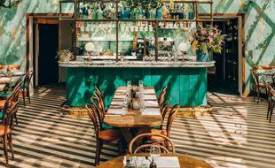 Vue intérieure du sublime restaurant italien Pink Mamma
