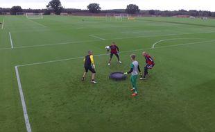 Les gardiens de Norwich s'éclatent pendant leur entraînement