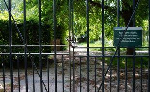 Le jardin Yitzhak Rabin à Paris est fermé depuis le 17 mars.