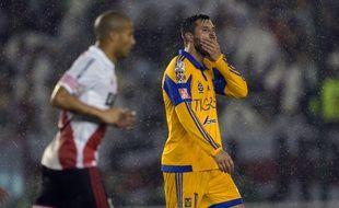 André-Pierre Gignac, l'attaquant de Tigres, battu par River Plate en finale de la Copa Libertadores, le 5 août 2015.