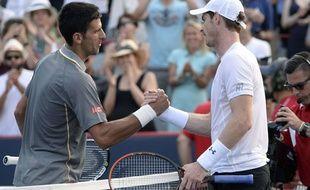 Novak Djokovic et Andy Murray, en août 2015.