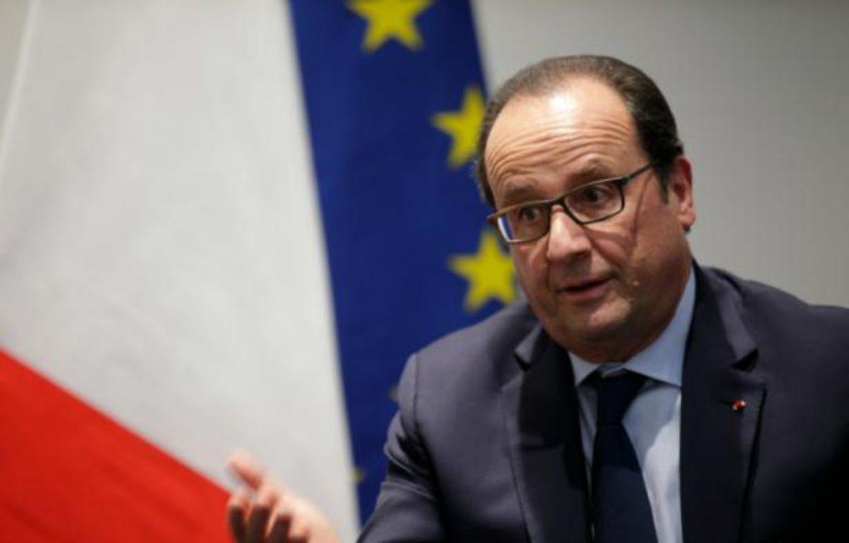 Le président François Hollande au Bourget le 30 novembre 2015 – PHILIPPE WOJAZER POOL