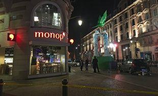 Le magasin Monop' braqué à Lille.