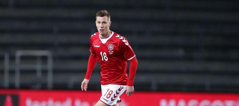 Lukas Lerager sous le maillot du Danemark.