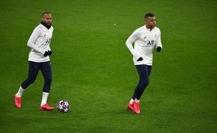 Neymar et Mbappé, à l'entraînement au mois de février